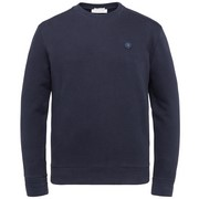 R-neck relaxed fit essential sweat - Sky Captain