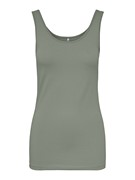 ONLLIVE LOVE LIFE S/L TANK TOP NOOS - Shadow