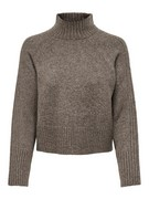 ONLMACADAMIA L/S HIGHECK PULLOVER B - Taupe Gray/W