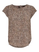 ONLVIC S/S DETAIL TOP NOOS WVN - Pumice Stone/GOLD