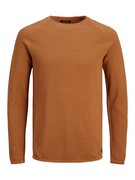 JJEHILL KNIT CREW NECK NOOS - Umber/Twisted with m